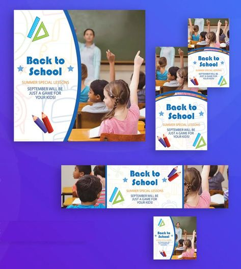 Back To School Banner Template AI