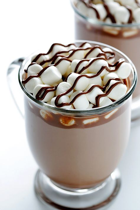 Nutella Hot Chocolate Ingredients: 2 Tbsp. Nutella 1 cup milk (any kind) optional toppings: whipped cream, marshmallows, chocolate syrup, chocolate shavings