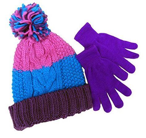 Berkshire Fashions Disney Frozen Hat And Glove Set Girls One Size Purple New