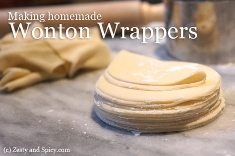 Have you ever thought about making your own wonton wrappers?  It's super easy and much tastier than the one you'll find at the store!    Plus, you can customize the shape to fit any of your recipes! -> http://zestyandspicy.com/kitchen-basics/basic-wonton-wrappers-dough-recipe/