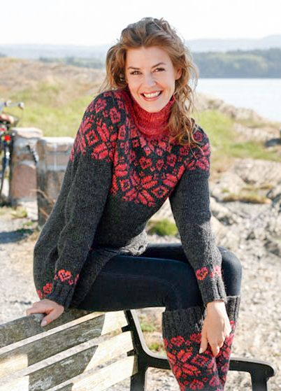 From a Drops Design catalog | Icelandic Lopi Turtleneck Sweaters ...