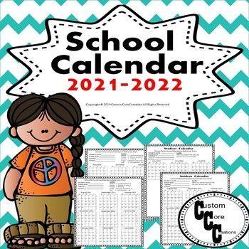 School Calendar 2021 2022 (Teacher and Student Calendar) in 2020
