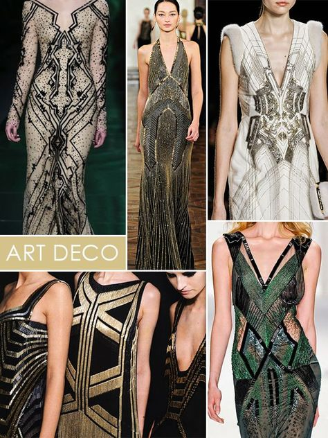 If only I had a red carpet event.....row 1 Monique Lhuillier beaded gown, Ralph Lauren runway gown, J. Mendel fall runway row 2 flapper couture,  J. Mendel emerald gown :)