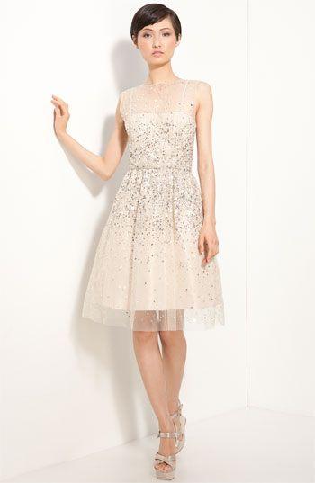 'Alyssa' Embellished Dress / Alice + Olivia