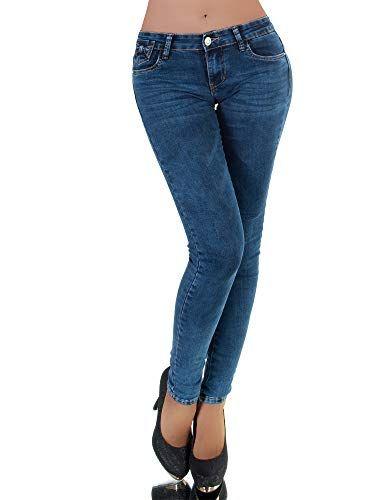 Jeans Hose Skinny Slim Hüftjeans Damen Hüfthose Röhrenjeans Stretch 36 44