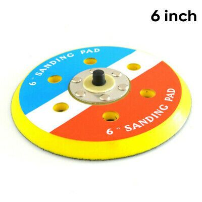 6/'/' 150mm Hook and Loop Dual Action Random Orbital Sanding Pad 5//16/'/' 6 hole