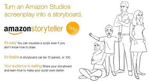 Amazon storyteller- We used this to create a storyboard of our - sample script storyboard