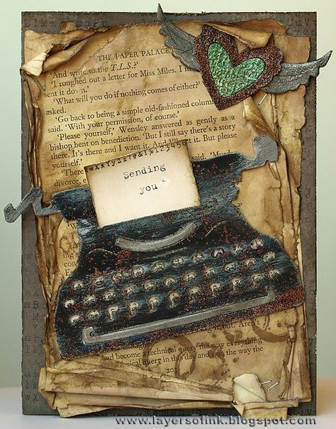 Pin By Sara Piersanti On Typewriters Illustrations Pop Up Cards Inspirational Cards Cards