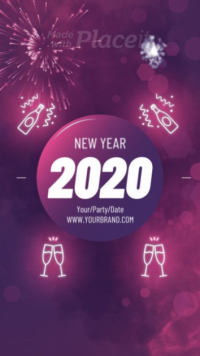 Instagram Story Maker With A Joyful New Year S Message In 2020 Happy New Year Pictures Happy New Year Gif Happy New Year Animation