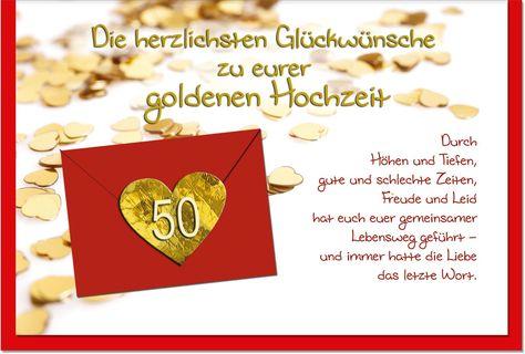 Doppelkarte Zur Goldenen Hochzeit Gemeinsam