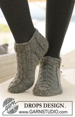 stickmönster på sockor