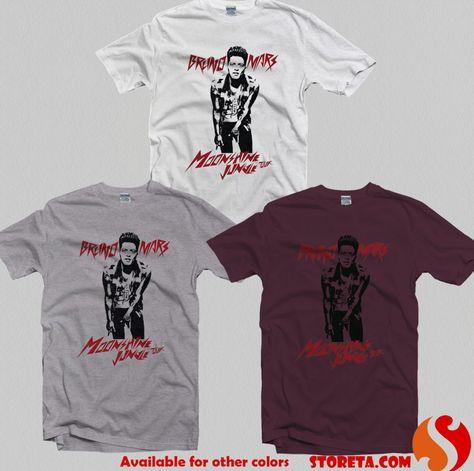 cool bruno mars moonshine jungle tour,Bruno Mars Shirt for Gildan T Shirt, Men T Shirt, Women T Shirt, Unisex T Shirt