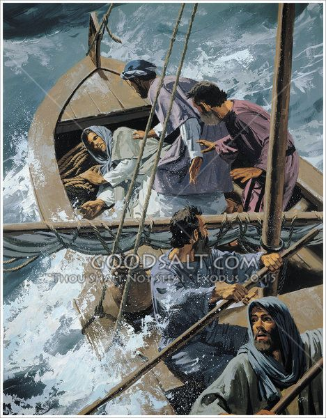 16++ Jesus sleeping in the boat coloring page info