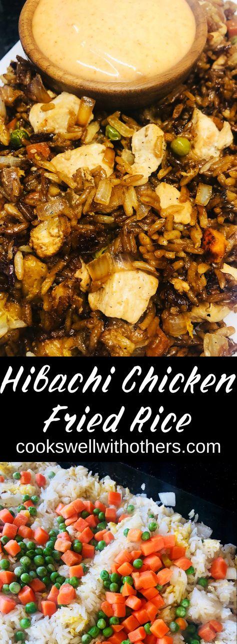 An amazing hibachi recipe for the flat top grill or Blackstone with a homemade yum yum sauce! #littlegriddle #blackstone #hibachi #yumyum