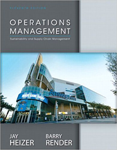 Test Bank For Operations Management 11th Edition By Jay