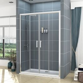 Noble 6mm Double Sliding Shower Door Various Sizes In 2020 Sliding Shower Door Shower Doors Double Sliding Doors
