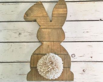 Ready To Ship Sale Bunny Butt Bunny Cut Out Wood Bunny Easter