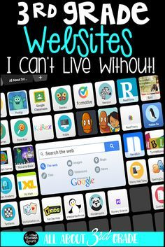 Grade Websites that I can't live without! This list was compiled in the All About Grade FB Group. These are sites grade teachers use daily. Third Grade Reading, Third Grade Math, Grade 3, 3rd Grade Centers, Fourth Grade, Third Grade Books, 3rd Grade Art, Math Centers, Homeschooling 3rd Grade