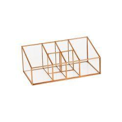 Admirable 3 Compartment Vertical Glass Metal Vanity Organizer Copper Download Free Architecture Designs Scobabritishbridgeorg