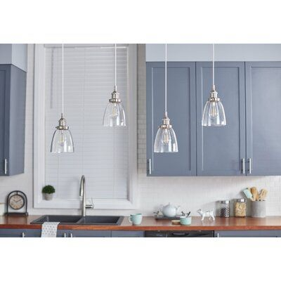 Bundaberg 1 Light Single Bell Pendant Finish Brushed Nickel In 2020 Modern Light Fixtures Pendant Lighting Room Hanging Lights