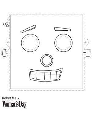 Robot Mask Boyama Sayfalari Anaokulu Ve Sanat