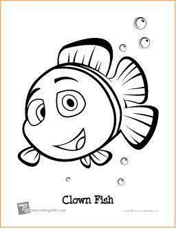 Clown Fish Free Printable Coloring Page Music Theory Worksheets Clown Fish Printables Free Kids