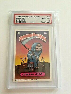 Ebay Sponsored 1986 Garbage Pail Kids 3rd Series 95a Grim Jim Psa 10 Gem Mint Garbage Pail Kids Pail Kids