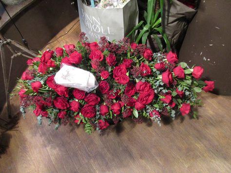 Fin blomsterdekor med røde Roser