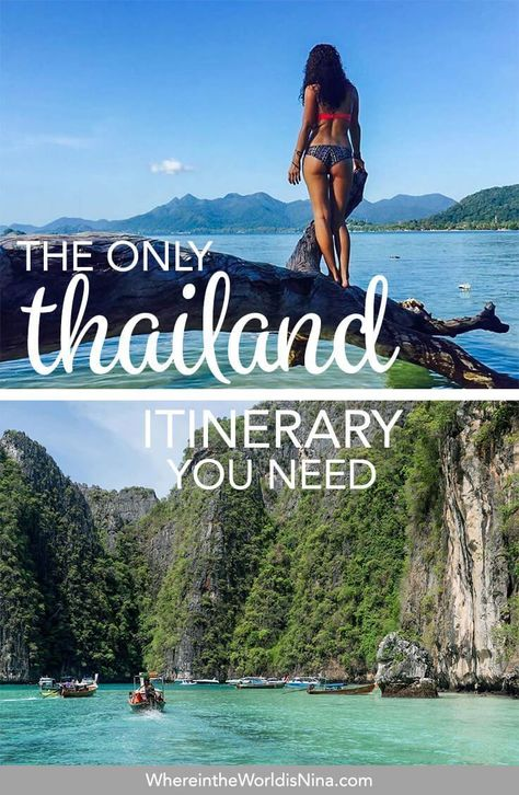This is the ULTIMATE Thailand itinerary. This monster post can plan your 2 weeks in Thailand, 3 weeks in Thailand, and beyond for a full 2-month Thailand itinerary! You literally don't need another post to plan your trip to Thailand. Pin this to your Thailand travel planning board for later!