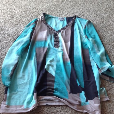 Blouse from Macy's Green/teal blouse, worn once for st Patrick's day with leggings Tops Blouses