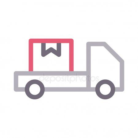 Lorry Colour Line Vector Icon Stock Vector Aff Line