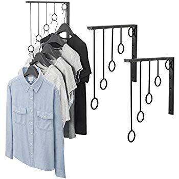 Amazon Com Okomatch Clothes Hanger Wall Mounted Clothing Organizer Drying Rack Garment Dispaly 5pcs Hanging Clothes Racks Garment Racks Clothes Organization