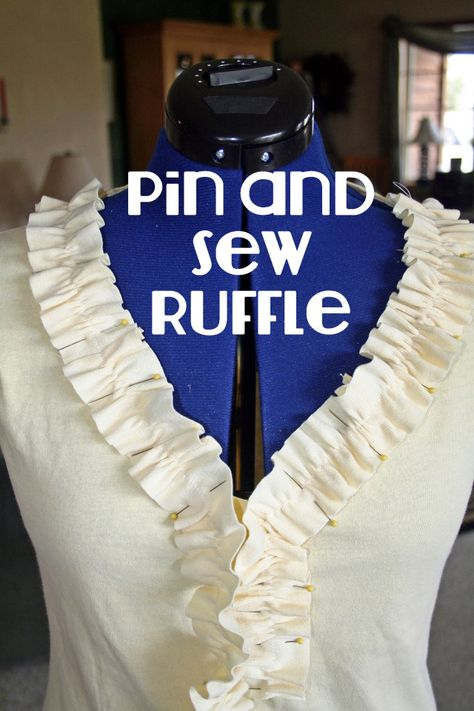 DIY ruffle t shirt refashion tutorial