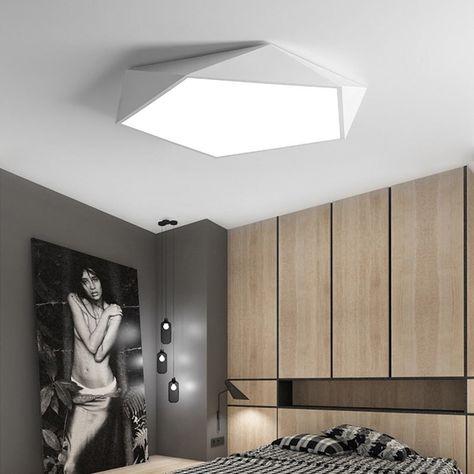 Creative géométrique art led éclairage plafond lampe pour salon ...