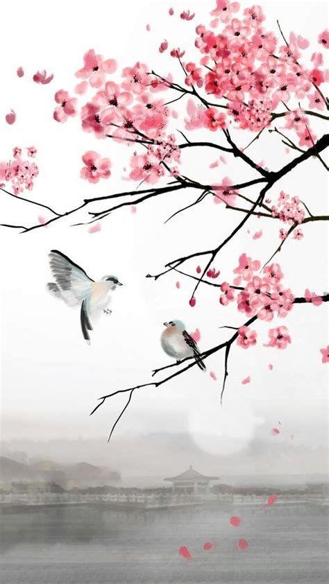 Pin De Tiana En Japanese Cherry Blossom Wallpaper In 2021 Painting Sakura Blossoms Art