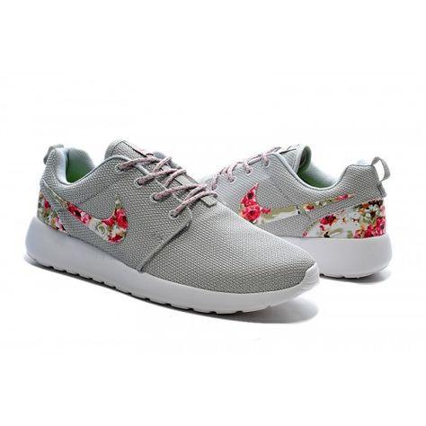 Kaufen Herren/Damen Nike Roshe One Print Blumen - Light grau weiß grün rosa  Blumen Laufen Schuhe Online De | Shoes | Pinterest | Fashion