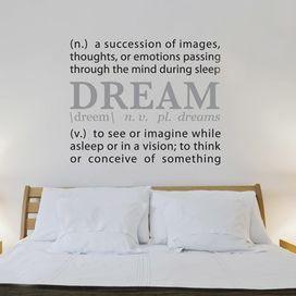 Dream Wall Decal | Words of Art | Pinterest | Wall decals, Walls ...