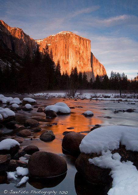 El Capitan on FIRE - Valley View, Yosemite,