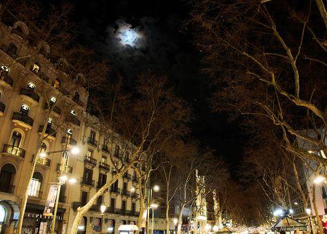 La Luna y Las Ramblas