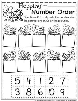 Number Worksheets | ABC Order | Numbers kindergarten ...