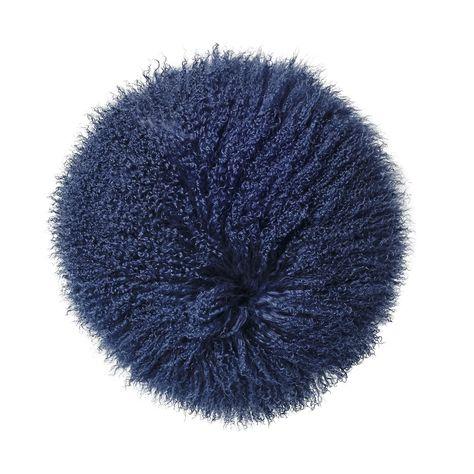 Bloomingville cushion. Mongolian lamb fur www.bloomingville.com