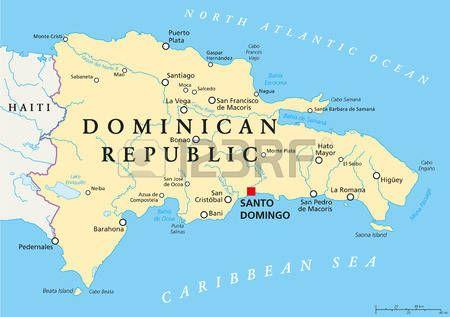 Antillas Menores Mapa Político Los Caribes Con Haití La República Dominicana Y Puerto Rico En El Mar Caribe Con Capiteles Y Las Fronteras Nacionales Inglés Dominican Republic Map Haiti And