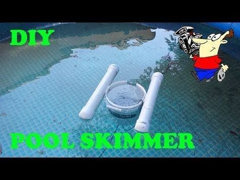 Diy Swimming Pool Surface Skimmer Youtube Skimmerpool With