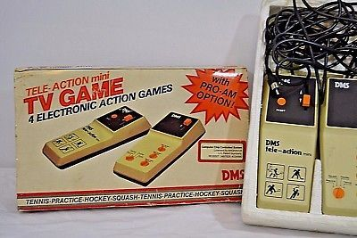 Vintage Tele Action Mini Tv Game 4 Electronic Action Games Dms Untested 1970 S Video Game Systems Action Games Family Fun Games