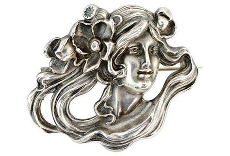 Spilla in argento  di epoca Liberty