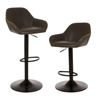 Incredible Glitzhome Mid Century Modern Vintage Gray Leatherette Ncnpc Chair Design For Home Ncnpcorg