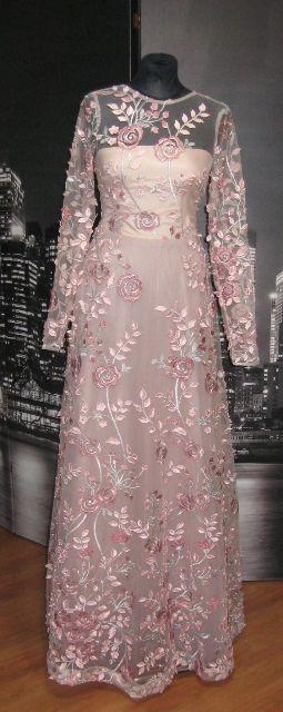 Floral Dress Suknia W Kwiaty Dresses With Sleeves Fashion Long Sleeve Dress