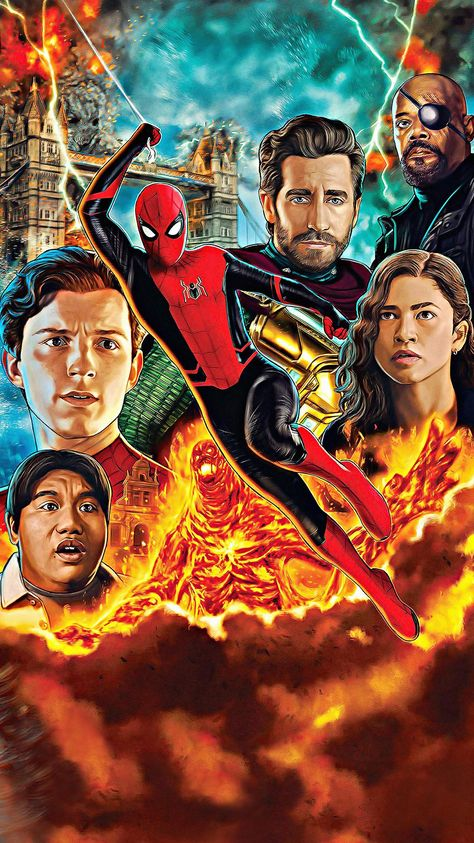 Spider-Man: Far from Home (2019) Phone Wallpaper   Moviemania