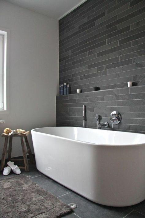 Salle de bain ardoise : naturelle et chic | Rustic Goodes | Salle de ...