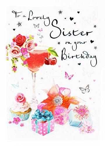 Happy Birthday Greeting Card For Sister Hallmark Girly Mo Https Www Amaz Happy Birthday Greetings Happy Birthday Wishes Cards Happy Birthday Greeting Card